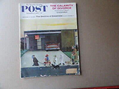 Saturday Evening Post Magazine November 1 1958 Complete Halloween Cover - Saturday Halloween