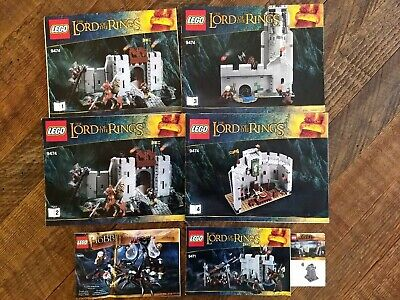 Lot of Lego Lord of The Rings - The Hobbit Instruction Manuals - Helm's Deep