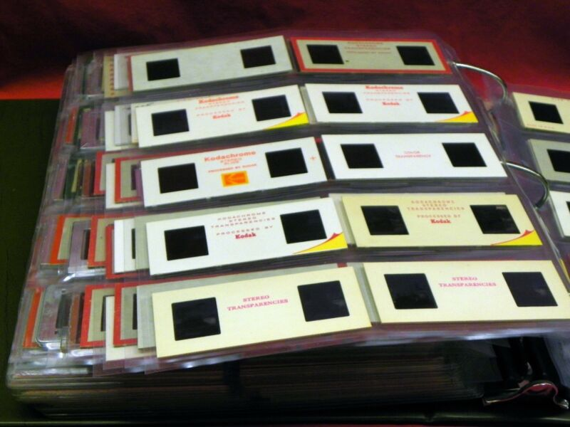 25 Archival Realist 3D Stereo Slide Storage Pages For Storing up to 250 Slides!