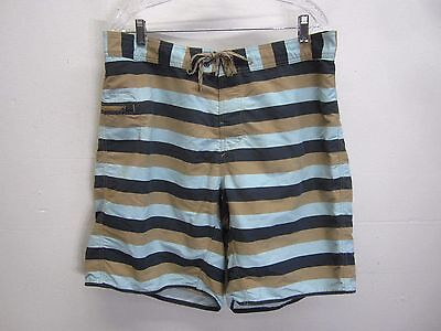 vtg Patagonia Swim Trunks Board Shorts surf striped lightweight nylon sz (Lightweight Nylon Boardshorts)