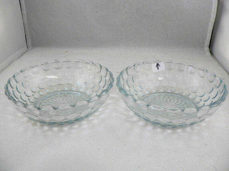 BUBBLE BLUE CEREAL BOWLS-----SET of 2-----ANCHOR HOCKING