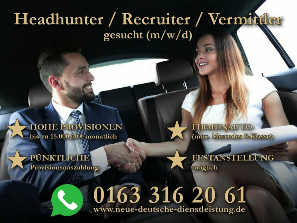 ⭐⭐️⭐️⭐️Security/ Headhunter/ Recruiter gesucht 15.000,00 €⭐️⭐️⭐️⭐ in Berlin - Tempelhof