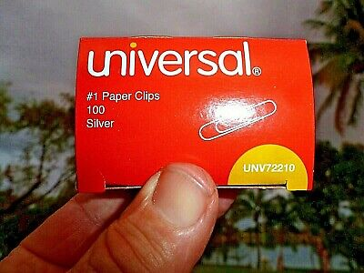 Paper Clips 1-14 Box-100 Silver Made Usa By Universal Un72210 Fast Usa Ship