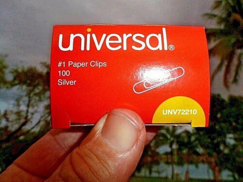 "Paper Clips 1-1/4"" Box-100 Silver  Made USA By Universal UN72210 Fast USA Ship"