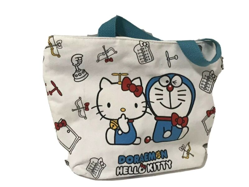 Doraemon Hello Kitty Mini Tote Bag Lunch Bag Collaboration Sanrio Anime