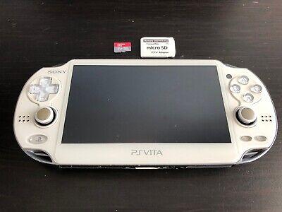 White Sony PS Vita 3.65 Henkaku Enso OLED PCH-1001 with 16GB SD2VITA CFW USA