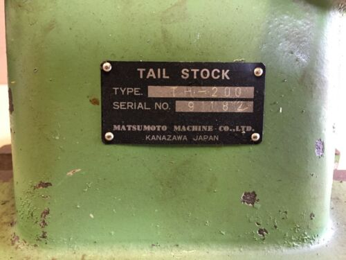 MATSUMOTO MACHINE TAIL STOCK TH-200 JAPAN MADE( HAAS CNC )