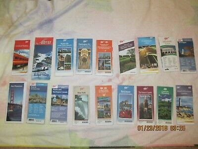 TRAVEL MAPS 18 various state and city maps mostly AAA NOT ANTIQUES  good shape