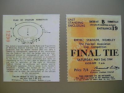 1964 F.A. Cup Final Ticket West Ham United v Preston North End Mint condition.