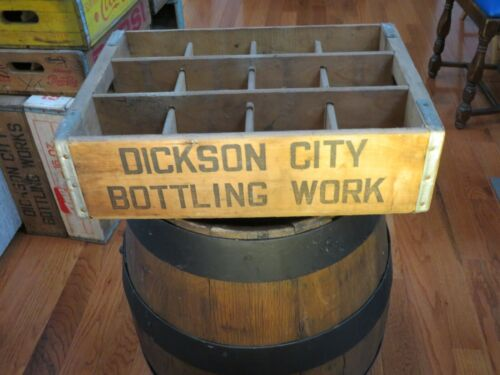 OLD DICKSON CITY PA BOTTLING WORKS BOTTLE CRATE Soda Crate