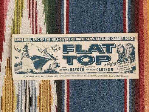 Vintage Cardboard Movie Flyer Ad for 1952
