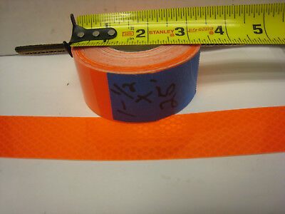 Neon Orange Reflective  Conspicuity Tape 1-12 X 25 Feet  Nl
