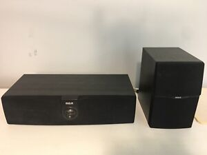 5.1  Surround speakers RCA. Wooden speaker cabinets 80W