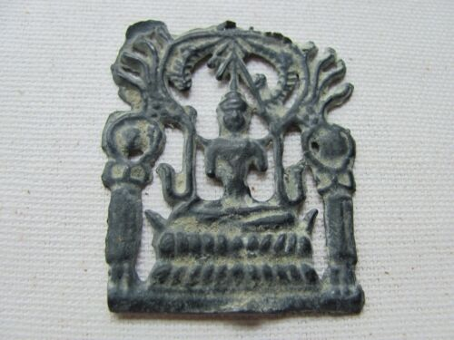 Antique Lead Buddhist Votive / Amulet from Thailand