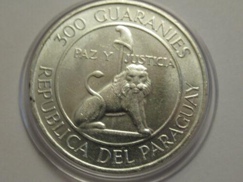 1968 Paraguay silver 300 Guarnies w/capsule