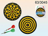 24.5 Cms Dart Board Game With 2 Darts - Double Sided Dartboard -1st Class Post - oob - ebay.co.uk
