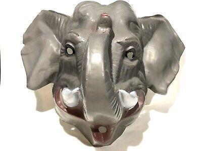 Vintage Animal Halloween Masks (Plastic Mask Halloween Ben Cooper Vtg 1970s Cesar ELEPHANT HUGE Animal Rare)