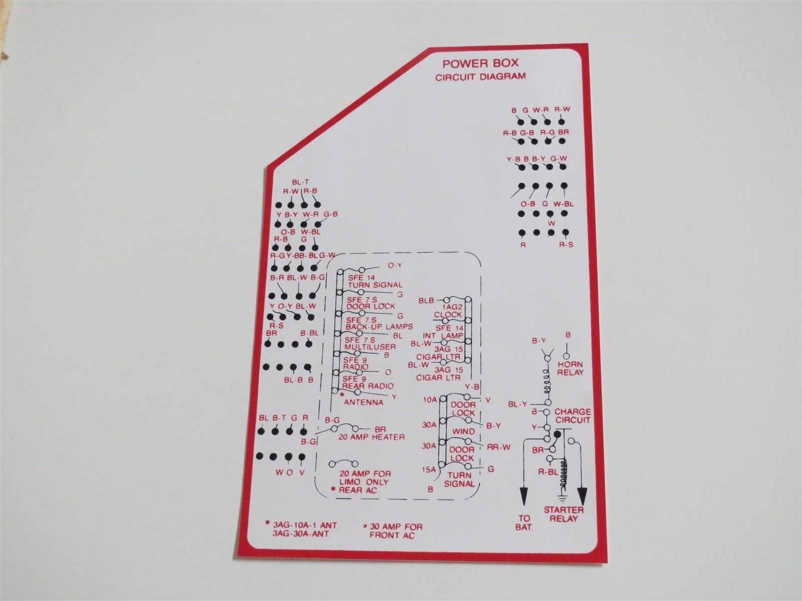 Used Lincoln Transmission Drivetrain And Related Parts For Sale 1995 Mark Viii Fuse Box 1960 Continental Power Circuit Diagram Decal Sticker