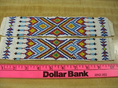 Beaded Strips  Bead Work Craft Non Native Sew On Style 3 You Get 2