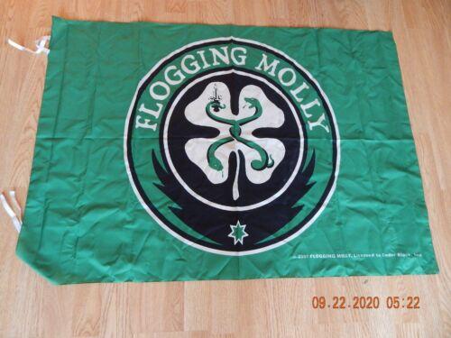 """Rare Flogging Molly Green Cloth Textile Poster Flag 28"""" x 40""""  2007"""