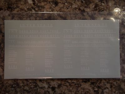 Interstate Railroad (IRR) 2-bay hopper decals, in white, S-scale