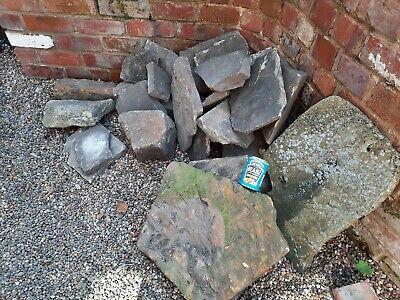 Job lot of large garden stones boulders rocks beautifully weathered rockery
