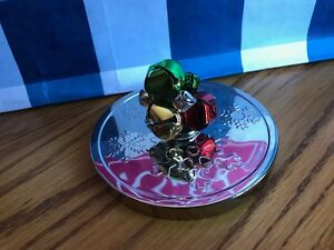 BATH & AND BODY WORKS JINGLE BELLS MAGNETIC CANDLE TOPPER CHRISTMAS HOLIDAY RED