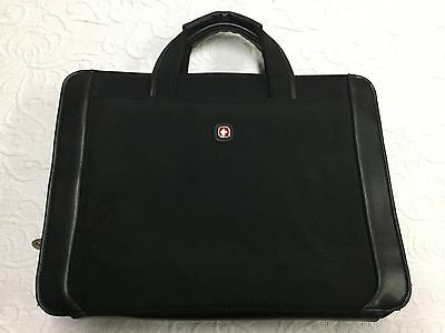Black WENGER Swiss Army Laptop Carrying Case Attache