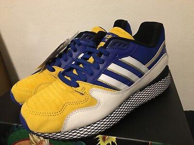 Adidas Dragon Ball Z 9.5 ULTRA TECH VEGETA BLUE DBZ D97054 SON GOHAN GOKU GOLD - Goku Shoes