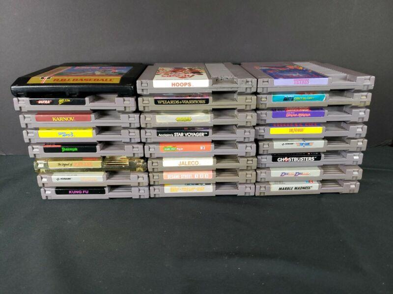 Nintendo NES Lot Of 24 Games - Zelda, Super Mario 3/Castlevania/Tetris/Dr Mario