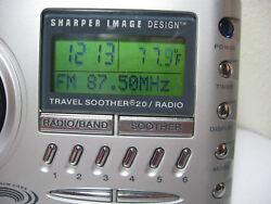 Sharper Image Travel Soother 20 Radio Alarm Clock SI621 AS-IS # 1145 u