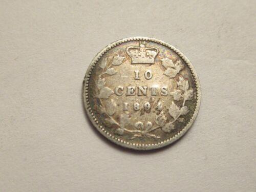 1894 Canada silver 10 cent