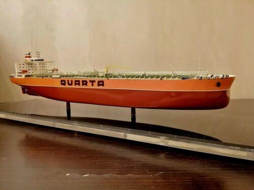 "Vintage Soviet ""QUARTA"" Boxed Dry cargo Ship USSR Museum Model of 70"