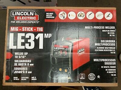 New Lincoln Electric 140 Amp Le31mp Multi-process Stickmigtig Welder