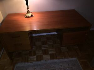 Teak Desk with 2 Drawers