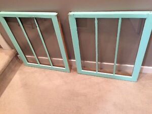 Teal Vintage Windows