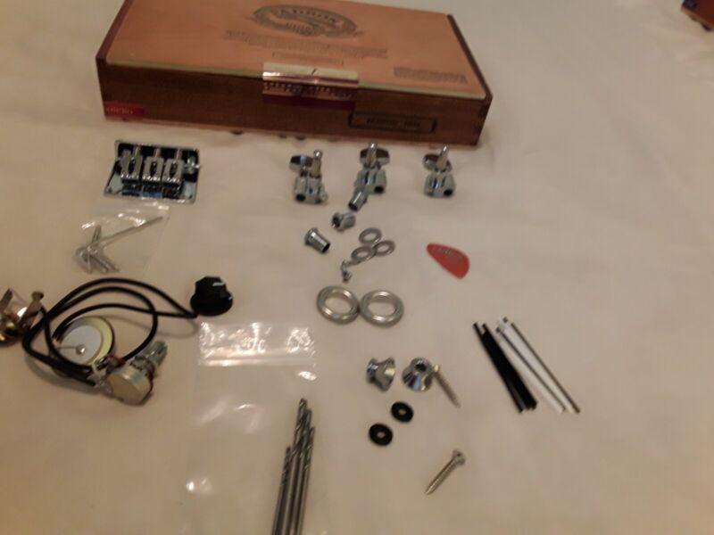 "3-string cigar box Guitar -Builders Kit-Hardware+ padron"" 3000"" all wood box ."