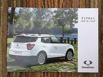 SSANGYONG - Tivoli XLV UK Sales Brochure 2016