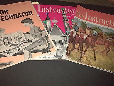 Lot 3 Vintage The Instructor magazine for Educators Christmas Ideas Halloween 63 (Halloween Ideas For 3)