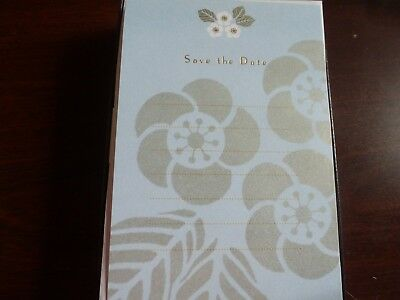 55 Hallmark Save the Date Cards & Envelopes  Single-Panel  Blue & Gold