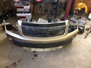 Front bumper skirt and  foam backing.