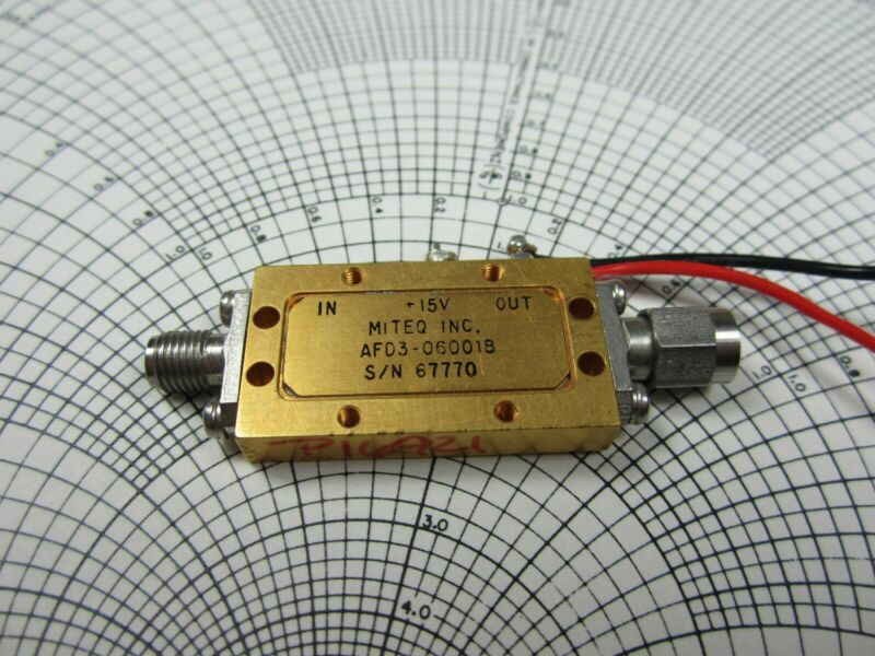 Miteq AFD3-060018 6 to 18 GHz Amplifier -TESTED