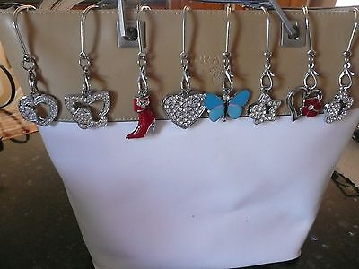 Cross Keychain (KEY FINDER keyfinders PURSE HOOK love mothers cross flower heart star)