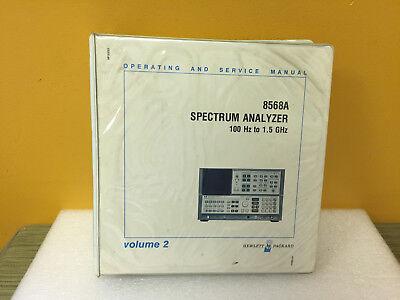 Hp Agilent 8568a Spectrum Analyzer Operating Service Manual Volume 2