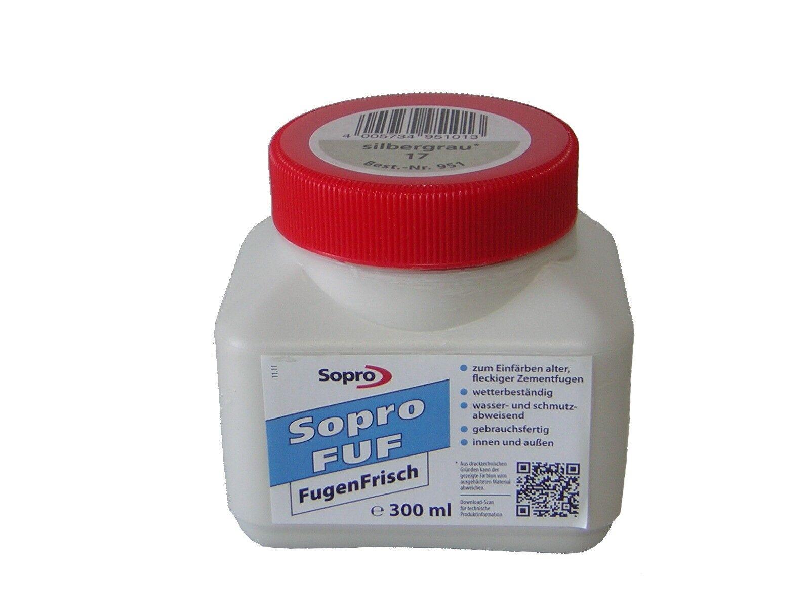 Sopro FugenFrisch FUF 0,3 l inkl. Schwamm Fugenanstrich Sanierfarbe Fugenfarbe
