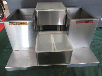 San Jamar Pump Condiment Tray Center W 2 Inserts 2 Pump Box