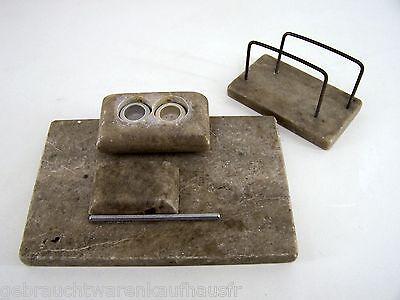 Schreibtischset Marmor altes Schreibtischset, Schreibtischgarnitur