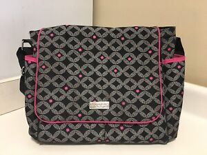 Carters Pink & Black Child of Mine Diaper Bag