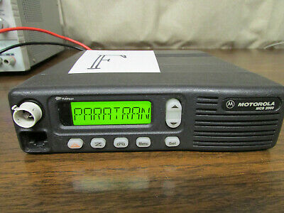 F - Motorola Mcs 2000 Mobile Radio 800mhz Uhf 250 Channels M01hx812w As-is