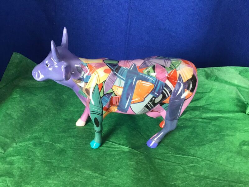 2001 CRAYON Westland COW PARADE FIGURINE #9192 Box & Tags